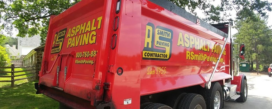 R. Smith paving dump truck